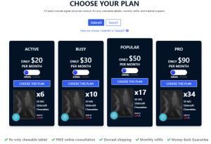 blue chew pill options